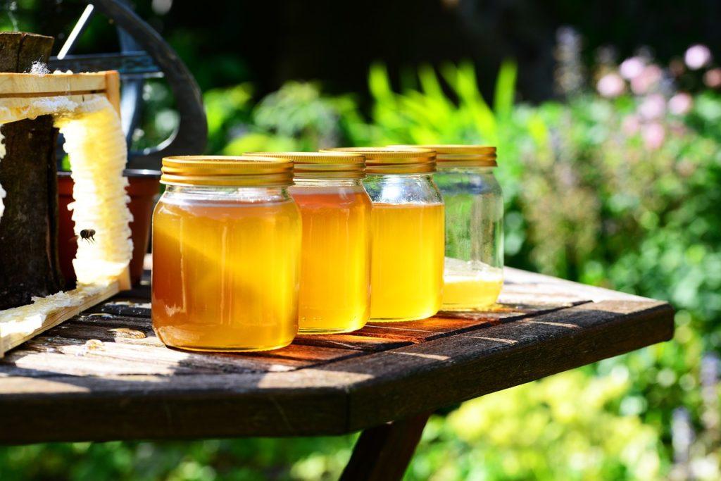 Bild: Honig in Gläsern
