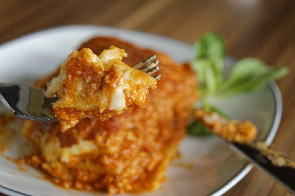 Bild: Kürbis-Pilz-Lasagne