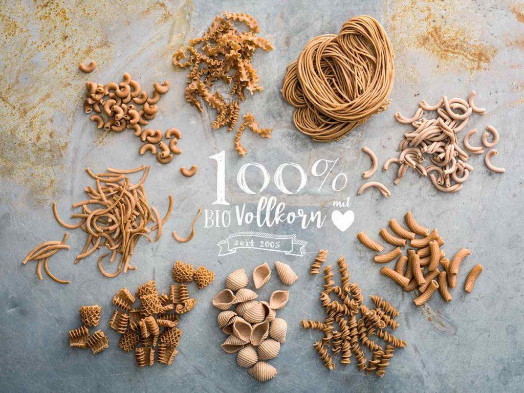 Bild: Bio-dinkel Pasta, veschiedene Sorten