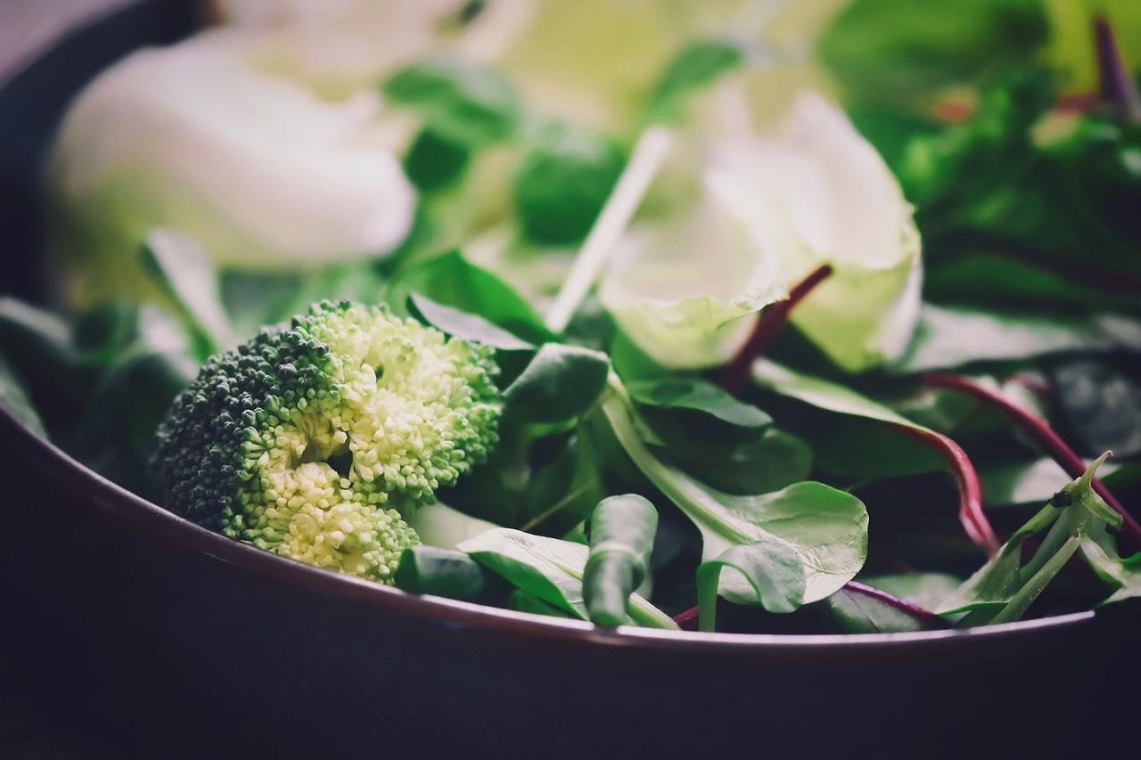 Bild: Natives Eiweiss - grüner Salat