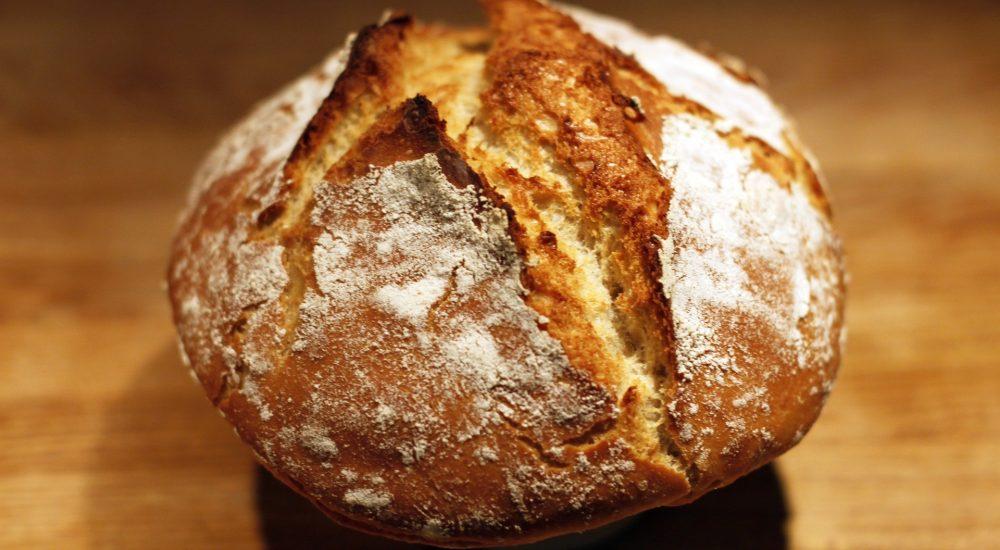 Bild: Brotbackkurs - Freigeschobenes rundes Vollkornbrot